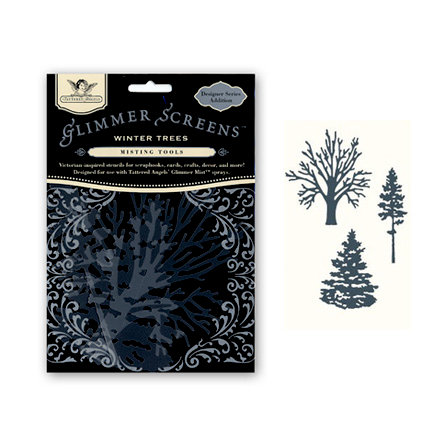 Tattered Angels - Glimmer Screen - Misting Tools - Winter Trees, BRAND NEW