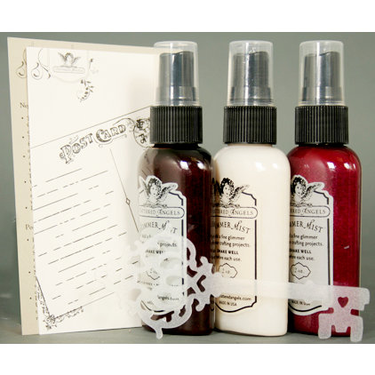 Tattered Angels - Timeless Romance Collection - Glimmer Mist and Stencil Kit