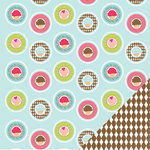 Three Bugs In a Rug - Bake Me a Cake Collection - 12 x 12 Double Sided Paper - Dessert
