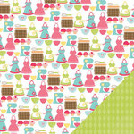 Three Bugs In a Rug - Bake Me a Cake Collection - 12 x 12 Double Sided Paper - Baking
