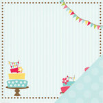 Three Bugs In a Rug - Bake Me a Cake Collection - 12 x 12 Double Sided Paper - Decorate