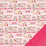 Three Bugs In a Rug - Bake Me a Cake Collection - 12 x 12 Double Sided Paper - Party Time