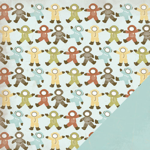 Three Bugs In a Rug - Blast Off Collection - 12 x 12 Double Sided Paper - Space Walk