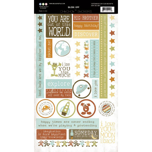 Three Bugs In a Rug - Blast Off Collection - Cardstock Stickers - Chit Chat