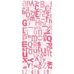 Three Bugs in a Rug - Alphabet Stickers - Pink