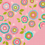 Three Bugs In a Rug - Chloe Collection - 12 x 12 Double Sided Paper - Bloomers