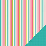 Three Bugs In a Rug - Chloe Collection - 12 x 12 Double Sided Paper - Chloe Stripe