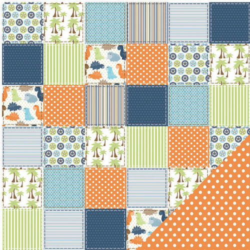 Three Bugs In a Rug - Dawson Collection - 12 x 12 Double Sided Paper - Dino Patch