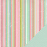 Three Bugs In a Rug - Ellie Collection - 12 x 12 Double Sided Paper - Stripe