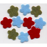 Three Bugs in a Rug - Felt Flowers - The Back Porch Collection, CLEARANCE