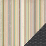 Three Bugs In a Rug - Frisky Collection - 12 x 12 Double Sided Paper - Stripe