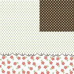 Three Bugs in a Rug - Home Grown Collection - 12 x 12 Double Sided Paper - Dots, CLEARANCE