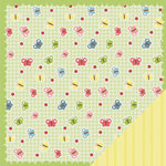 Three Bugs In a Rug - Lazy Summer Collection - 12 x 12 Double Sided Paper - Butterfly