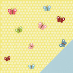 Three Bugs In a Rug - Lazy Summer Collection - 12 x 12 Double Sided Paper - Lemon Twist