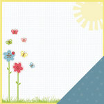 Three Bugs In a Rug - Lazy Summer Collection - 12 x 12 Double Sided Paper - Sunshine
