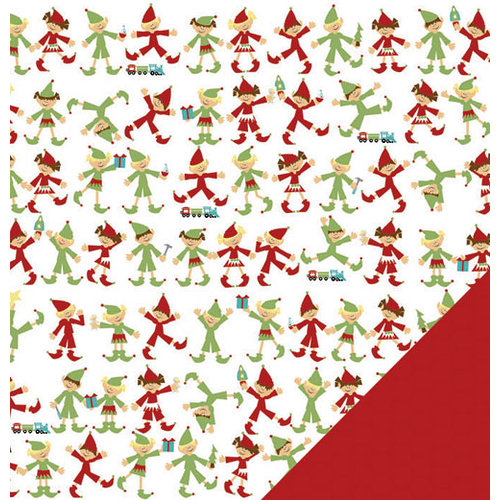 Three Bugs In a Rug - Snow Much Fun Collection - 12 x 12 Double Sided Paper - Santa's Elves