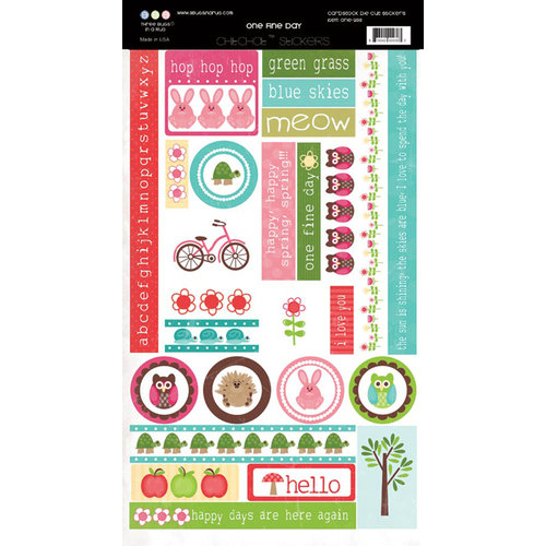 Three Bugs In a Rug - One Fine Day Collection - Cardstock Stickers - Chit Chat