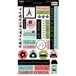 Three Bugs In a Rug - A Trip to Paris Collection - Cardstock Stickers, CLEARANCE