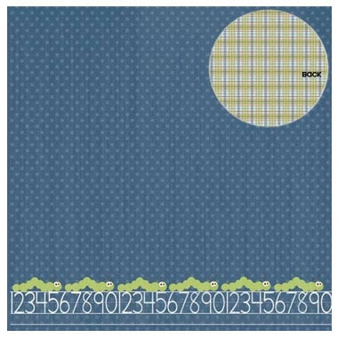 Three Bugs In a Rug - Snips and Snails Collection - 12 x 12 Double Sided Paper - Inch-Worm