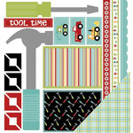 Three Bugs In a Rug - Tool Time Collection - 12 x 12 Double Sided Paper - Tool Time Cut Outs