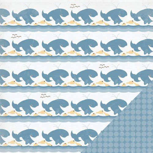 Three Bugs In a Rug - Under the Sea Collection - 12 x 12 Double Sided Paper - Whale of a Tale