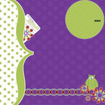 Three Bugs In a Rug - What a Hoot Collection - 12 x 12 Double Sided Paper - Whoo, CLEARANCE