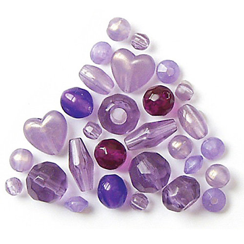 The Beadery - Selections Collection - Jewelry Bead Ensemble - Spacer Beads Assortment - Amethyst