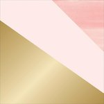 Teresa Collins - Project Pink Collection - 12 x 12 Double Sided Paper - Gold Dipped