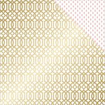 Teresa Collins - Project Pink Collection - 12 x 12 Double Sided Paper - Lattice