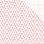 Teresa Collins - Project Pink Collection - 12 x 12 Double Sided Paper - Ombre Chevron