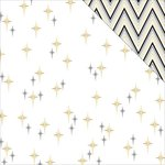 Teresa Collins - Glam Factor Collection - 12 x 12 Double Sided Paper - Seeing Stars