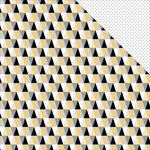 Teresa Collins - Glam Factor Collection - 12 x 12 Double Sided Paper - Triangles