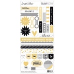 Teresa Collins - Glam Factor Collection - Sticker Sheet - Decorative