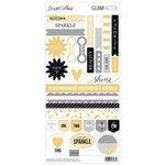 Teresa Collins - Glam Factor Collection - Sticker Sheet - Decorative