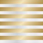 Teresa Collins - Signature Essentials Collection - 12 x 12 Clear Paper - Gold Cabana