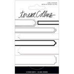 Teresa Collins - Signature Essentials Collection - Matchbook Stickers - Labels - Silver