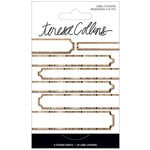 Teresa Collins - Signature Essentials Collection - Matchbook Stickers - Labels - Woodgrain