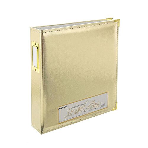 Teresa Collins - 8.5 x 11 - Three Ring Album - Gold