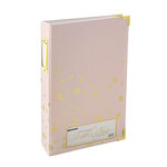 Teresa Collins - 6 x 12 - Three Ring Album - Blush with Dots with Foil Accents
