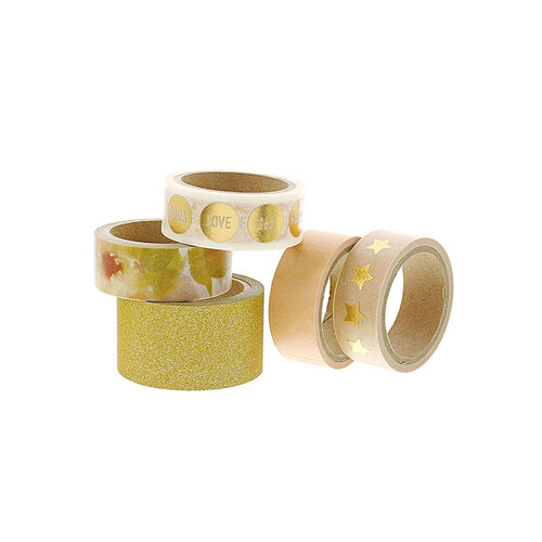Teresa Collins - Washi Tape - Floral with Foil Accents