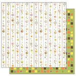 TaDa Creative Studios - Abode a La Mode Collection - 12 x 12 Double Sided Paper - Fruit Stripes