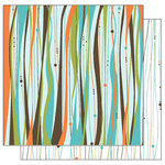 TaDa Creative Studios - Abode a La Mode Collection - 12 x 12 Double Sided Paper - Groovilicious, CLEARANCE
