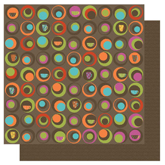 TaDa Creative Studios - Abode a La Mode Collection - 12 x 12 Double Sided Paper - Jumpin Java, CLEARANCE