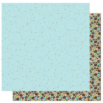 TaDa Creative Studios - Abode a La Mode Collection - 12 x 12 Double Sided Paper - Hoop Dee Doo
