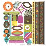 TaDa Creative Studios - Abode a La Mode Collection - 12 x 12 Die Cut Paper - Tag-a-ma-jigs 2