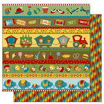 TaDa Creative Studios - The Big Top Collection - 12 x 12 Double Sided Paper - Clowning Around, BRAND NEW