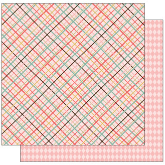 TaDa Creative Studios - Goody Two Shoes Collection - 12 x 12 Double Sided Paper - Straight Laced
