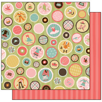 TaDa Creative Studios - Goody Two Shoes Collection - 12 x 12 Double Sided Paper - Fancy Schmancy