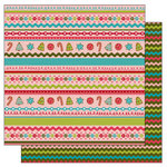 TaDa Creative Studios - Jolly Holly Days Collection - 12 x 12 Double Sided Paper - Ginger and Lace, CLEARANCE