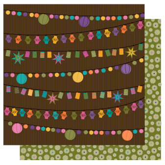 TaDa Creative Studios - Sizzlin' Summer Collection - 12 x 12 Double Sided Paper - Patio Par-Tay
